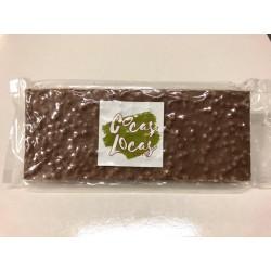 Barra turrón chocolate con leche crunch 250grs