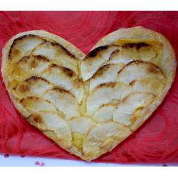 Por San Valentín Corazón de Hojaldre con manzana