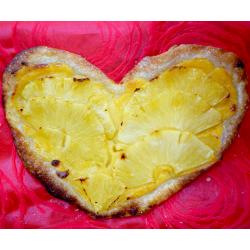 Por San Valentín Corazón de Hojaldre con piña