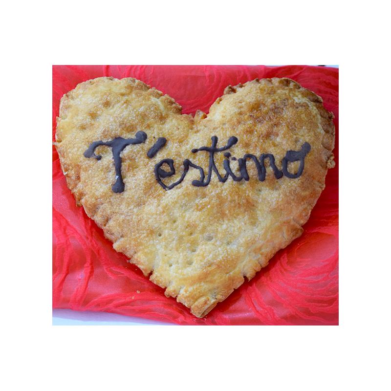 Per Sant Valentí Cor de Pasta de full de xocolata o crema