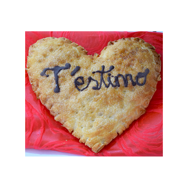 Por San Valentín Corazón de Hojaldre de chocolate o crema