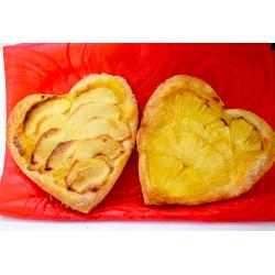 Por San Valentín 2 Corazones de Manzana y Piña